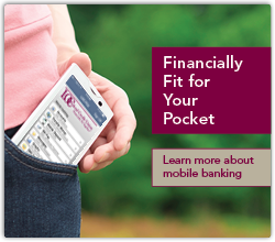 Our mobile banking solution is financially fit for your pocket
